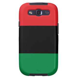 Red Black and Green Pan-African UNIA flag Galaxy S3 Case