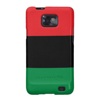Red Black and Green Pan-African UNIA flag Galaxy SII Case