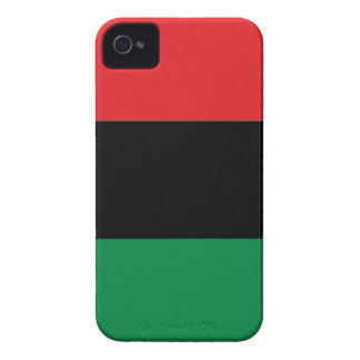 Red Black and Green Pan-African UNIA flag iPhone 4 Case-Mate Case