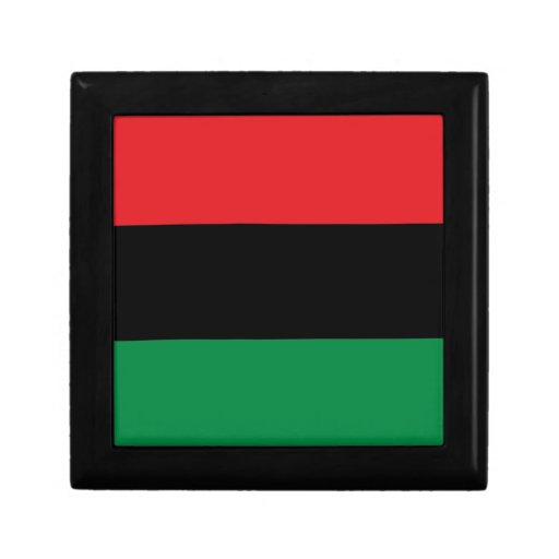 Red Black and Green Pan-African UNIA flag Jewelry Box