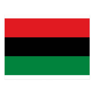 Red Black and Green Pan-African UNIA flag Postcard