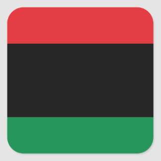 Red Black and Green Pan-African UNIA flag Square Sticker