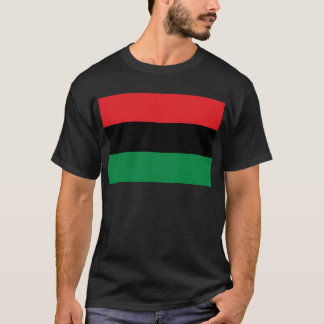 Red Black and Green Pan-African UNIA flag T-Shirt