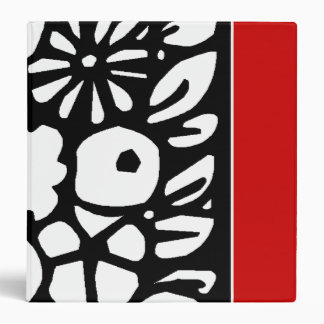 RED,BLACK AND WHITE 3 RING BINDER