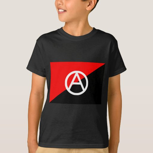 Red Black and White Anarchist Flag Anarchy T-Shirt