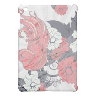 red black and white bird and flowers lovely vector iPad mini cover