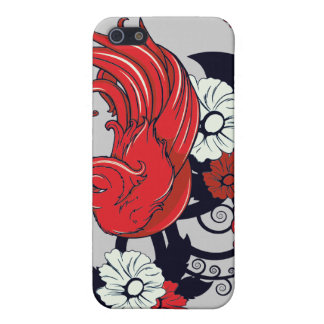 red black and white bird and flowers lovely vector iPhone 5 cover