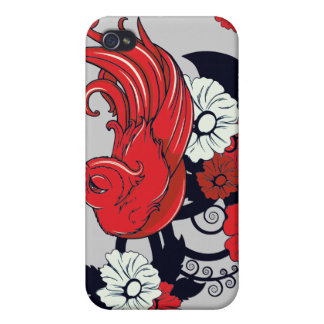 red black and white bird and flowers lovely vector iPhone 4 covers