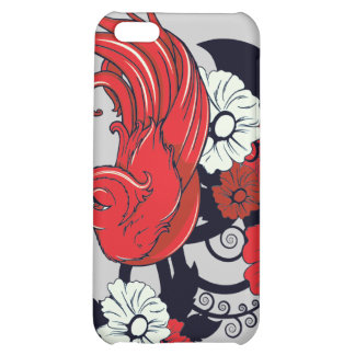 red black and white bird and flowers lovely vector iPhone 5C cases