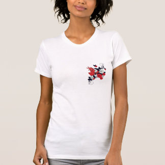 red black and white bird and flowers lovely vector tee shirts