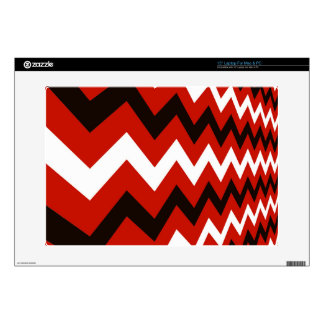"Red,Black and White Chevron 15"" Laptop Skins"