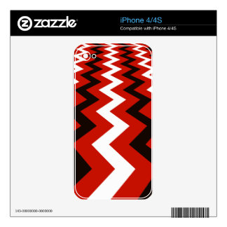 Red,Black and White Chevron iPhone 4S Decals