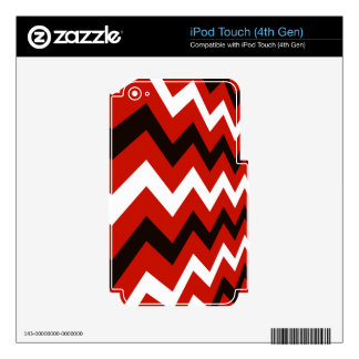 Red,Black and White Chevron iPod Touch 4G Skin