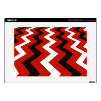 "Red,Black and White Chevron Skin For 15"" Laptop"