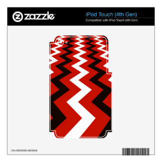 Red,Black and White Chevron Skins For iPod Touch 4G