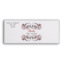 red, black and white Chic Business envelopes
