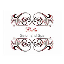 red black and white Chic Business Thank You Cards
