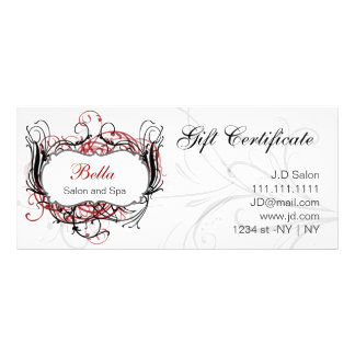 red,black and white Chic Gift Certificates