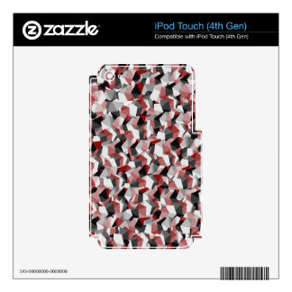 Red, Black, and White Cubes iPod Touch 4G Skin