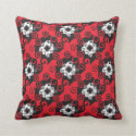 Red, Black and White Geometric Pillows