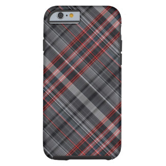 Red, black and white plaid tough iPhone 6 case