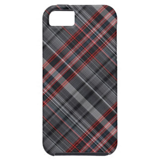 Red, black and white plaid iPhone 5 cover