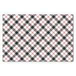 Red Black and White Plaid Holiday Tissue Paper