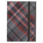 Red, black and white plaid iPad folio cases