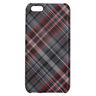 Red, black and white plaid iPhone 5C cases