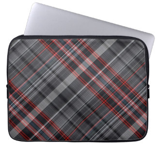 Red, black and white plaid laptop computer sleeves