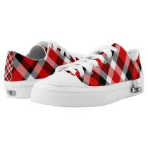 Red Black and White Plaid Lo-Top
