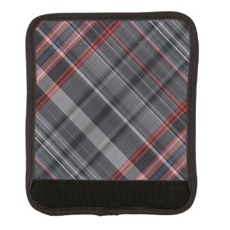 Red, black and white plaid handle wrap