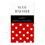 Red, Black and White Polka Dots Double-Sided Standard Business Cards (Pack Of 100)
