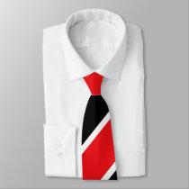 Red Black and White Regimental Stripe Tie
