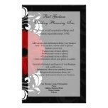 """Red, Black and White Scroll Gerbera Daisy 5.5"""" X 8.5"""" Flyer"""