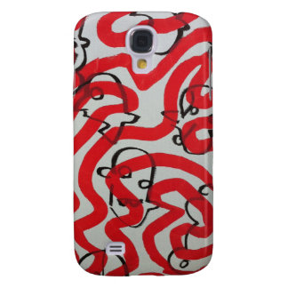red black and white sludge by SLUDGEart Samsung Galaxy S4 Cover