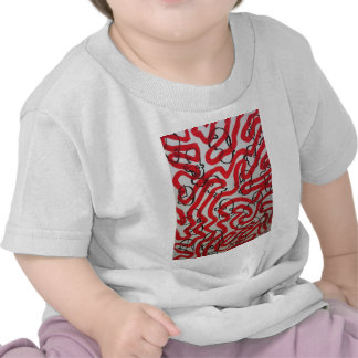 red black and white sludge by SLUDGEart Tee Shirts