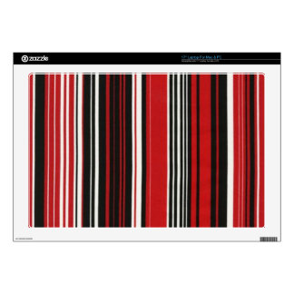 """Red, Black and White Stripe Decal For 17"""" Laptop"""