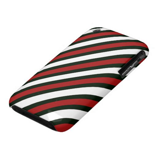 Red Black and White Stripes iPhone 3 Case-Mate Case