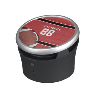 Red Black and White Stripes Football Jersey Speaker