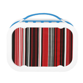 Red, Black and White Stripes Lunch Box