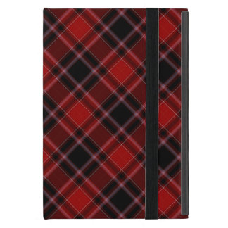 Red Black and White Tartan Plaid Pattern Covers For iPad Mini