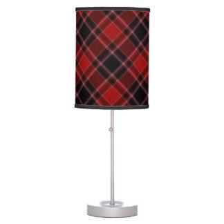 Red Black and White Tartan Plaid Pattern Desk Lamp