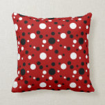 Red, Black and White Throw Pillows