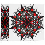 Red Black and White Tribal Mandala 3 Ring Binder