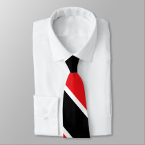 Red Black and White University Stripe Tie