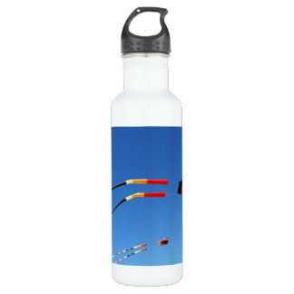 Red, Black, and Yellow Kite Stainless Steel Water Bottle