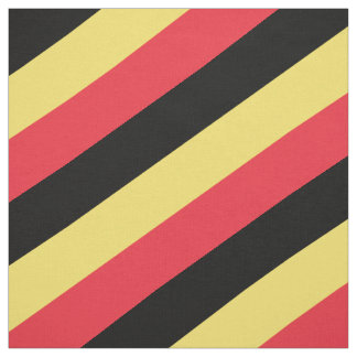Red, black and yellow striped pattern fabric