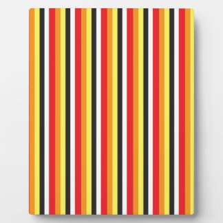 RED black and yellow stripes pattern Plaque