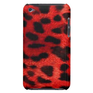 Red & Black Animal Print Barely There iPod Case